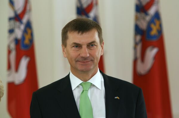 El primer ministro de Estonia, Andrus Ansip - Sputnik Mundo