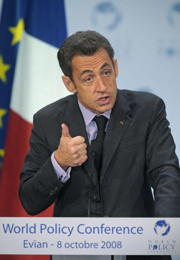 El presidente de Francia, Nicolas Sarkozy - Sputnik Mundo
