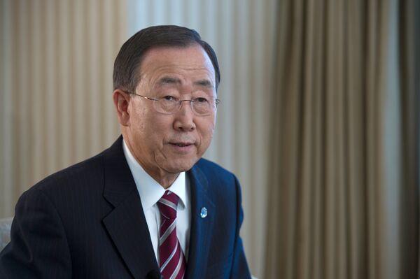 El Secretario General de la ONU, Ban Ki-moon - Sputnik Mundo