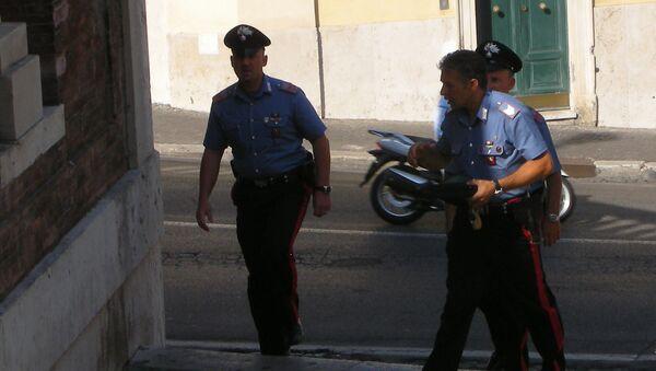 La Policía italiana (archivo) - Sputnik Mundo