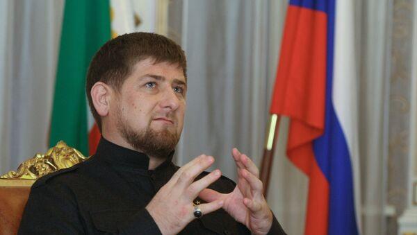 El líder de la república rusa de Chechenia, Ramzán Kadírov - Sputnik Mundo