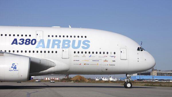 Презентация пассажирского лайнера Airbus A380 в аэропорту Домодедово - Sputnik Mundo