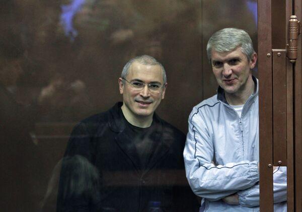 Mijaíl Jodorkovski y Platón Lébedev (archivo) - Sputnik Mundo