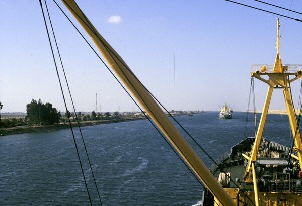 El Canal de Suez. Archivo - Sputnik Mundo