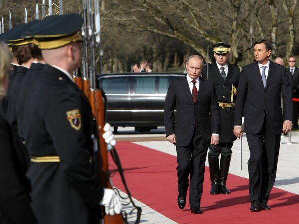 Putin destaca la cooperación productiva entre Rusia y Eslovenia - Sputnik Mundo