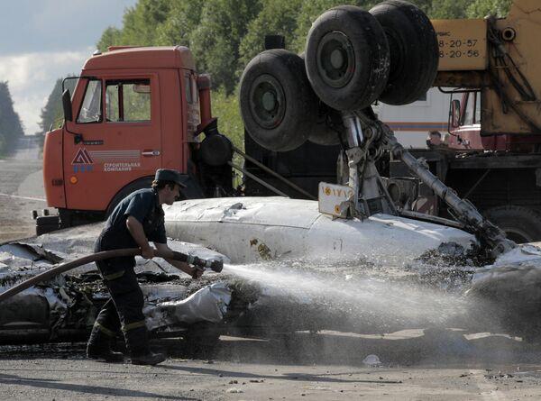 Error del piloto es la causa más probable del accidente de Tu-134 en el noroeste de Rusia - Sputnik Mundo