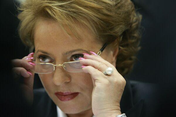 Presidenta del Consejo de la Federación (Senado) de Rusia, Valentina Matviyenko - Sputnik Mundo