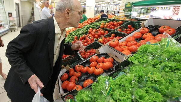 Vegetales en un supermercado - Sputnik Mundo