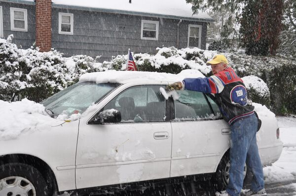 Nueva York, cubierto de nieve a finales de octubre - Sputnik Mundo