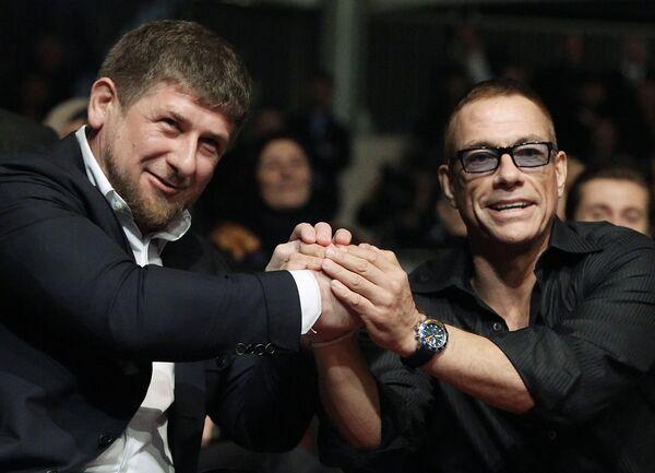Ramzán Kadírov y Jean-Claude Van Damme - Sputnik Mundo