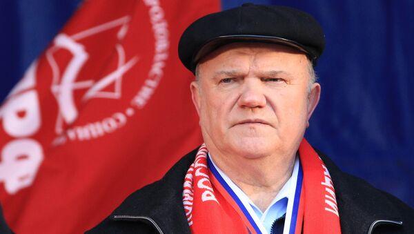 líder del partido Comunista de Rusia Guennadi Ziuganov - Sputnik Mundo