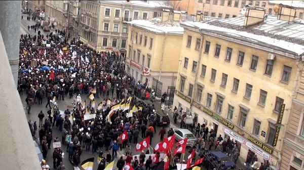 """Protesta autorizada """"Por las elecciones honestas"""" en San Petersburgo - Sputnik Mundo"""