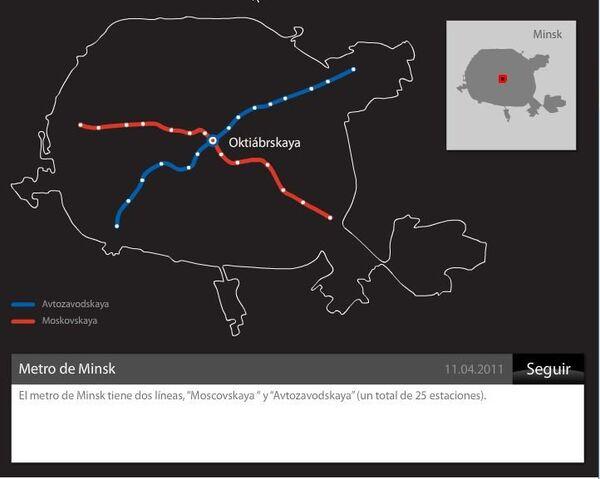 Atentado en metro de Minsk en abril de 2011 - Sputnik Mundo