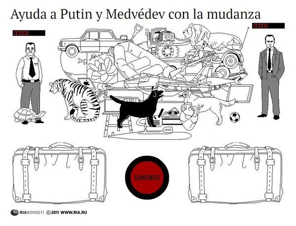 Ayuda a Putin y Medvédev con la mudanza - Sputnik Mundo