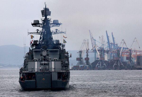 Buques rusos con infantes de Marina parten en misión antipiratería al océano Índico - Sputnik Mundo