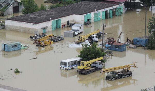 Inundación en la ciudad de Krimsk de verano pasado - Sputnik Mundo