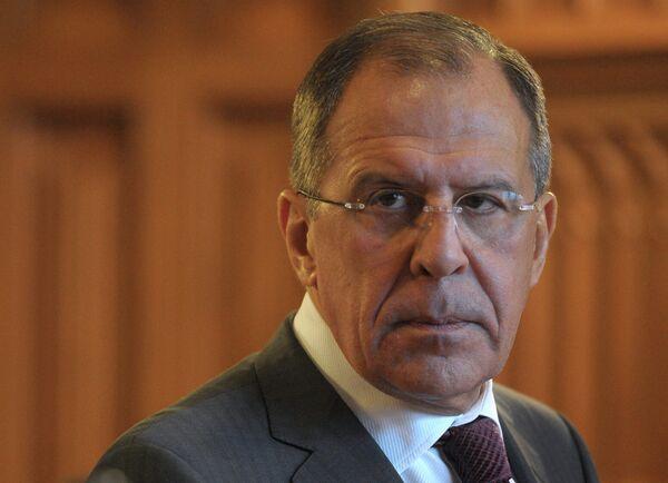 El ministro de Exteriores de Rusia, Serguei Lavrov - Sputnik Mundo