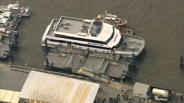 Accidente de un ferry causa entre 30 y 50 heridos en Nueva York - Sputnik Mundo