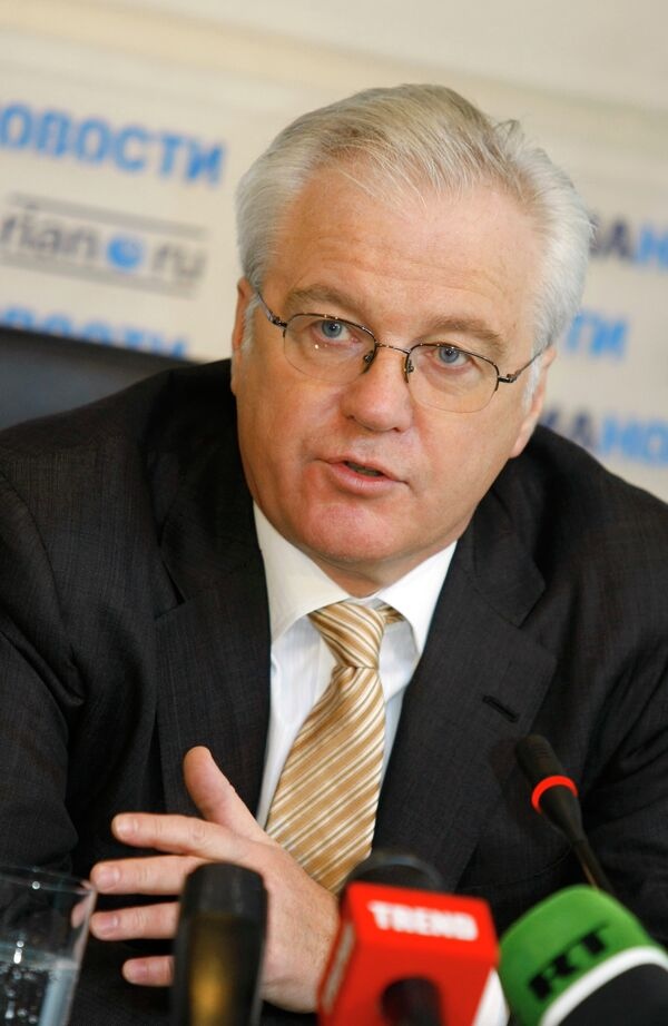 El embajador de Rusia ante la ONU, Vitali Churkin - Sputnik Mundo