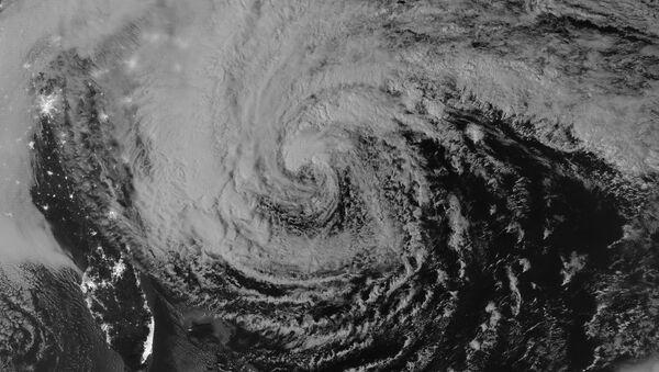 Un huracán desde el espacio (ilustración) - Sputnik Mundo