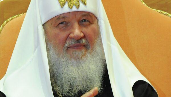 El máximo jerarca de la Iglesia Ortodoxa de Rusia (IOR), patriarca Kiril - Sputnik Mundo