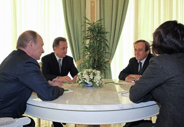 "Michel Platini dice a Putin que Rusia ""arrasará"" en el Mundial de Brasil - Sputnik Mundo"