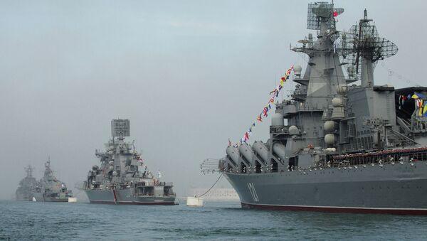 Buques de la Flota del Mar Negro en Sebastopol (archivo) - Sputnik Mundo