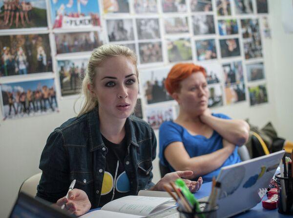 La activista del movimiento ucraniano Femen, Alexandra Shevchenko - Sputnik Mundo
