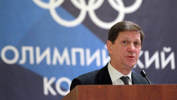 Alexandr Zhúkov, el presidente del Comité Olímpico de Rusia (archivo) - Sputnik Mundo