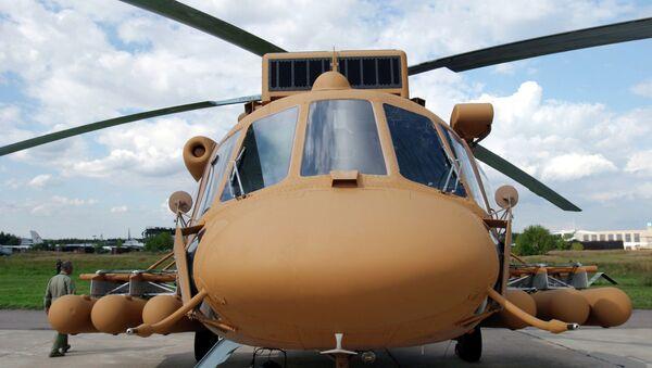 Helicóptero militar de transporte Mi-171Sh en el Salón Internacional de la Aviación y el Espacio MAKS (Archivo) - Sputnik Mundo