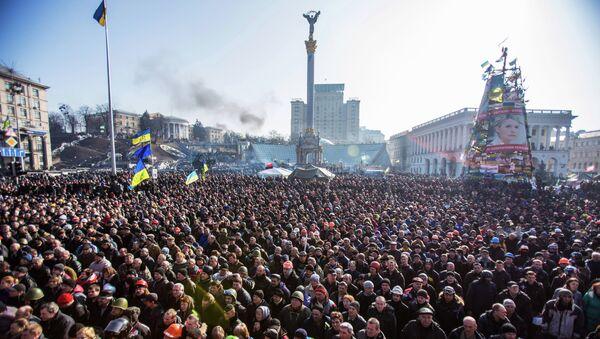 Manifestación de protesta en la Plaza de la Independencia (Maidán) de Kiev, 2014 - Sputnik Mundo