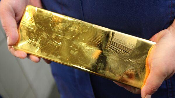 Un lingote de oro (archivo) - Sputnik Mundo