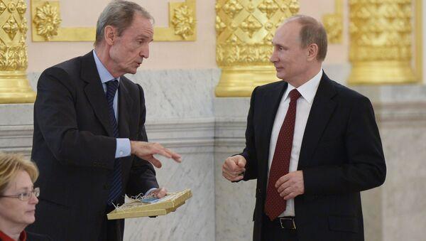 Jean-Claude Killy y Vladímir Putin - Sputnik Mundo