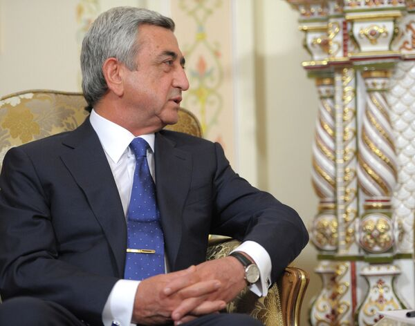Serzh Sargsyan, presidente de Armenia - Sputnik Mundo