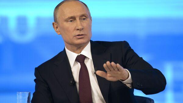 Presidente ruso Vladímir Putin - Sputnik Mundo