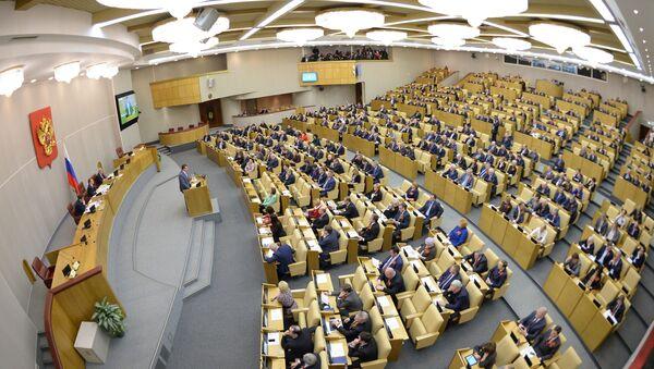 Дополнительное пленарное заседание Госдумы РФ - Sputnik Mundo