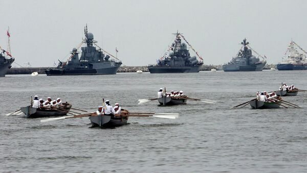 Репетиция парада ко Дню военно-морского флота РФ в Балтийске - Sputnik Mundo