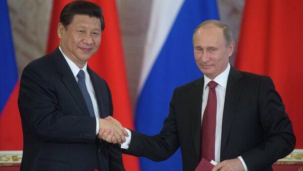 Presidente de la República Popular China, Xi Jinping y presidente de Rusia, Vladímir Putin - Sputnik Mundo