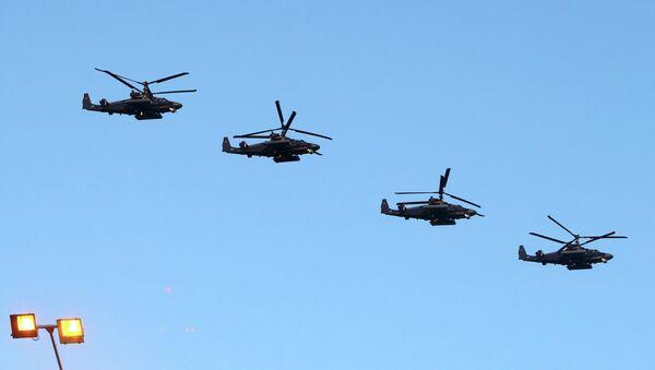 Helicópteros rusos Ka-52 Alligator - Sputnik Mundo