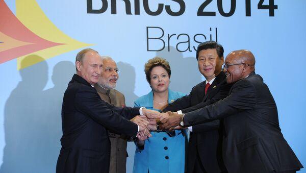 Líderes del BRICS en Fortaleza (Brasil) - Sputnik Mundo