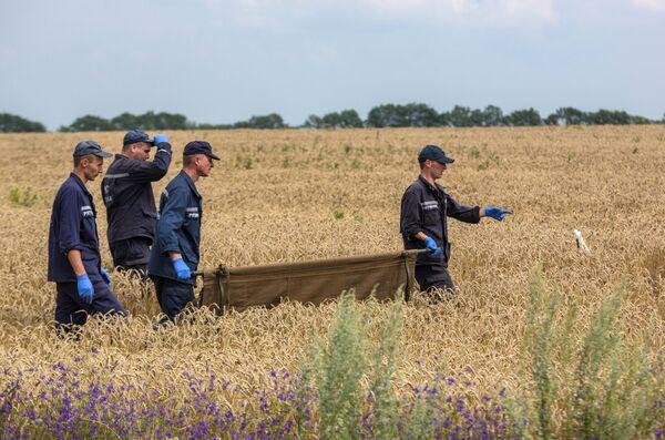 Evacuación de los cuerpos de las víctimas del avión malasio siniestrado en el este de Ucrania - Sputnik Mundo