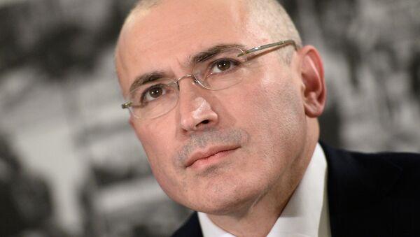 Mijaíl Jodorkovski, exmagnate petrolero - Sputnik Mundo