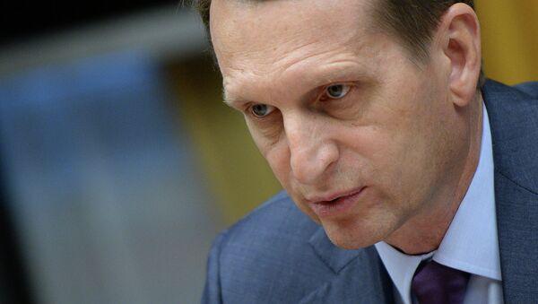 Serguéi Narishkin, presidente de la cámara baja del Parlamento de Rusia - Sputnik Mundo