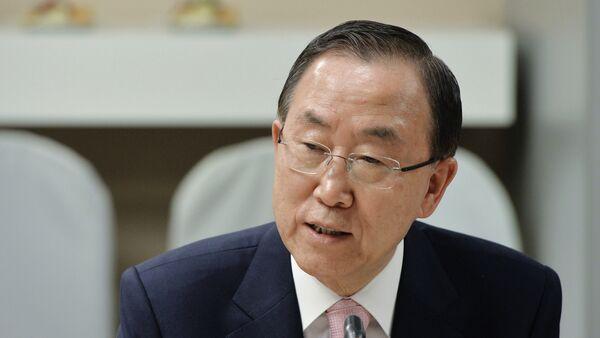 Ban Ki-moon, el secretario general de la ONU, - Sputnik Mundo