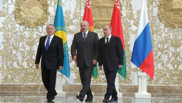 Líderes de los países miembros de la Unión Económica Euroasiática (UEE) - Sputnik Mundo