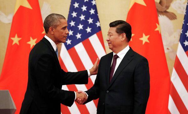 Presidente de EEUU, Barack Obama y presidente de la República Popular China, Xi Jinping - Sputnik Mundo