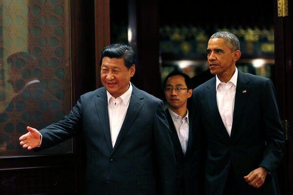 Xi Jinping, presidente de China y Barack Obama, presidente de EEUU - Sputnik Mundo