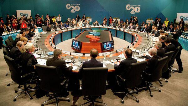 Sesión de la cumbre del G20 en Australia - Sputnik Mundo