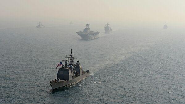 Buques de la Armada estadounidense (Archivo) - Sputnik Mundo