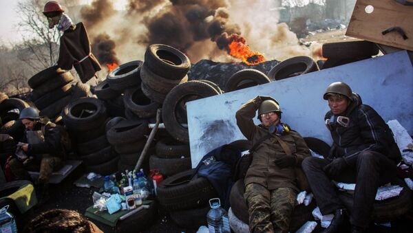 Manifestaciones de protesta en la Plaza de la Independencia (Maidán) de Kiev - Sputnik Mundo